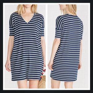 Amour Vert Suzette Striped Shirt Dress Size XS